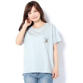 Daily russet / デイリーラシット ワゴンバス刺繍ポケTシャツ