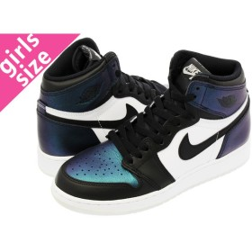 NIKE AIR JORDAN 1 RETRO HIGH OG AS BG 【GOTTA SHINE】ナイキ エア ジョーダン 1 レトロ ハイ OG  AS BG BLACK/METALLIC SILVER/WHITE