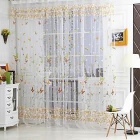 ノーブランド品ドア 窓用 カーテン インテリア 装飾 ボイル製 薄手  1x2M
