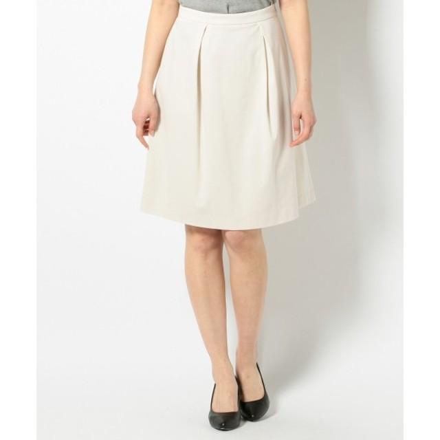 L size ONWARD(大きいサイズ) / エルサイズオンワード 【洗える/セットアップ対応】C/Peライトポンチ スカート