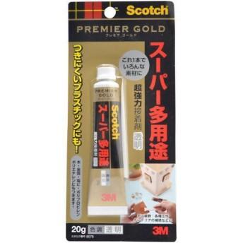 スコッチ 超強力接着剤 透明 プレミアゴールド スーパー多用途 20g