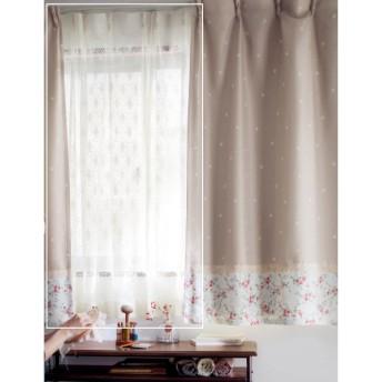 カーテン 安い おしゃれ レースカーテン しずく柄のレースカーテン 約100×148(2枚)