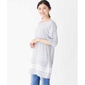 SHOO・LA・RUE / シューラルー ストライプ柄刺繍ワンピース