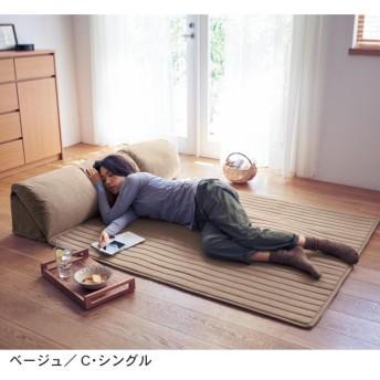 ラグ ソファー おしゃれ 安い クッション セット 日本製 ブラウン A・シングル/86×1.5