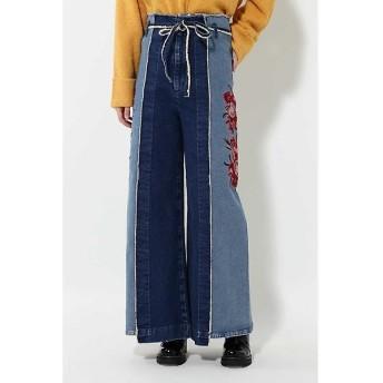 ROSE BUD / ローズ バッド 5-KNOT 刺繍ワイドパンツ