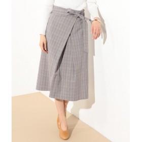 J.PRESS / ジェイプレス ストレッチグレンチェック 共布ベルト付きスカート