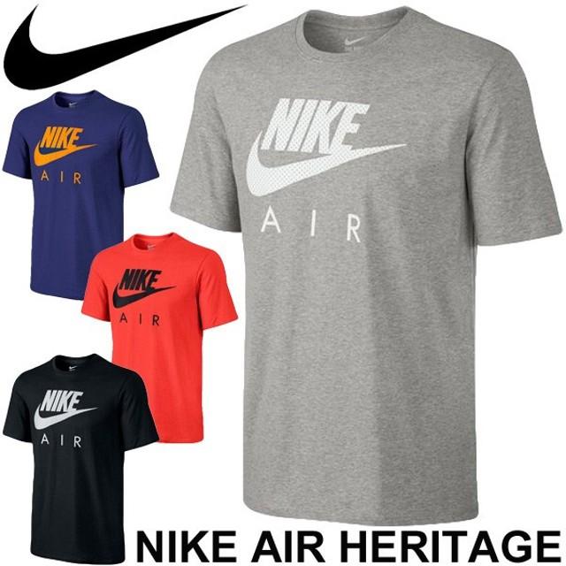 ea2c3f435b6 メンズ Tシャツ NIKE ナイキ AIR ヘリテージ Tシャツ 半袖 スポーツ スウォッシュロゴ プリント 紳士