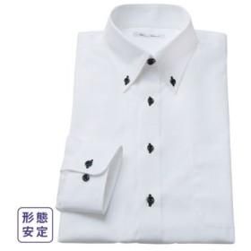 ワイシャツ ビジネス メンズ 形態安定 長袖 ボタンダウン 標準シルエット  S/M/L ニッセン