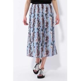 ROSE BUD / ローズ バッド フラワー柄プリーツスカート