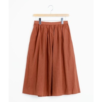 NIMES / ニーム 40/1超長綿タイプライター スカート