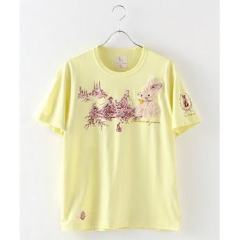 PINK HOUSE / ピンクハウス 庭園散歩刺繍Tシャツ