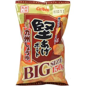 【ケース販売】カルビー 堅あげポテト 九州しょうゆ BIGサイズ 150g×9袋