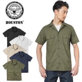 セール20%OFF!HOUSTON ヒューストン 40455 POPLIN HBT シャツ メンズ 半袖 ミリタリー ブランド 人気