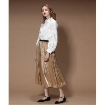 GRACE CONTINENTAL / グレースコンチネンタル サテンギャザースカート