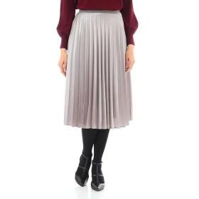 NATURAL BEAUTY / ナチュラルビューティー 箔サテンプリーツスカート