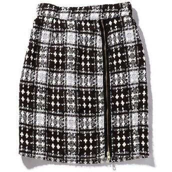ROSE BUD / ローズ バッド チェック柄サイドジップスカート