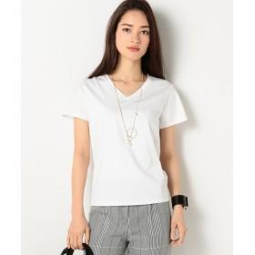 L size ONWARD(大きいサイズ) / エルサイズオンワード GinaVネック Tシャツ