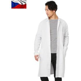 新品 チェコ軍 ワークコート ホワイト メンズ ミリタリー アウター ジャケット ロング 軍物 軍服