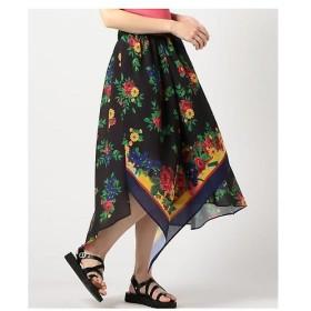 ROSE BUD / ローズ バッド スカーフプリントスカート