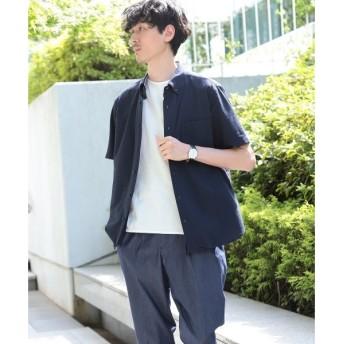 TAKEO KIKUCHI / タケオキクチ ストレッチ シアサッカーシャツ[ メンズ シャツ クールマックス ]