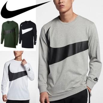 Tシャツ 長袖 メンズ/ナイキ NIKE スウッシュ トレーニングシャツ ランニング ジョギング ジム 男性 カジュアル ストリート トップス/875716