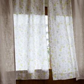 カーテン 安い おしゃれ フレンチリネン 薄地 リネン 洗える 吸水 速乾 マルチカラー 約100×148(2枚)