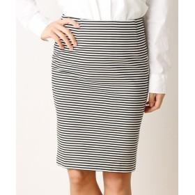 SHIPS for women / シップスウィメン リップルジャージー ボーダースカート