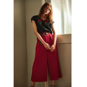 PROPORTION BODY DRESSING / プロポーションボディドレッシング  《BLANCHIC》カラーダブルクロススリットワイドパンツ