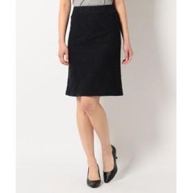 L size ONWARD(大きいサイズ) / エルサイズオンワード 【セットアップ可能】リネアラメツイード スカート