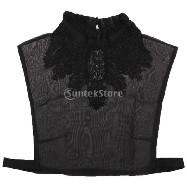 ノーブランド品  全10パタン 女性 刺繍 シャツの襟 付け襟 えり 衿 飾り物 - パタン4