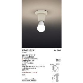 遠藤照明 照明器具 LEDシーリングライト 白熱球40W形×1相当 ERG-5252W