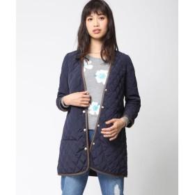Viaggio Blu / ビアッジョブルー 【受注会限定】Vネックパイピングデザインキルティングコート