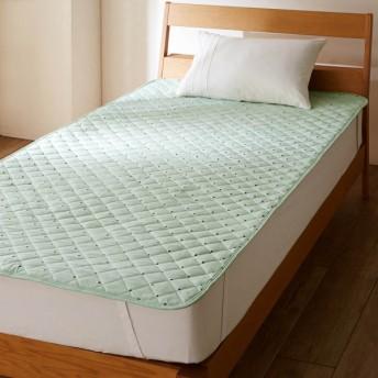 布団カバー シーツ 敷きパッド パッドシーツ 綿100%の敷きパッド ドット グリーン シングル