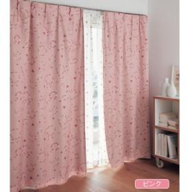 カーテンセット カーテン 安い おしゃれ ディズニー ミッキー 遮光 遮熱 防音 グリーン 約100×90 約100×110 2枚