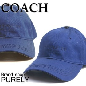 全品ポイント5倍 COACH コーチ 帽子 メンズ ロゴ ベースボール ハット キャップ F86005 NAV ネイビー