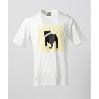 J.PRESS / ジェイプレス ブルドッグフレームプリント Tシャツ