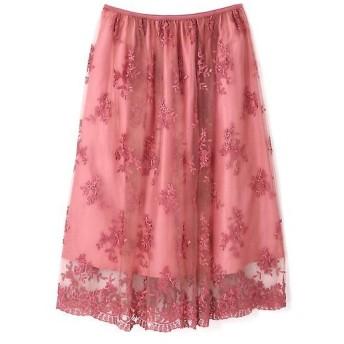 PROPORTION BODY DRESSING / プロポーションボディドレッシング チュールエンブロイダリースカート