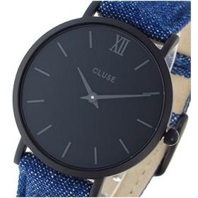 クルース 腕時計 レディース CLUSE CL30031 ブラック文字盤 ラ・ボエーム デニムベルト 33mm