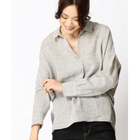 COMME CA ISM / コムサイズム リネン 抜け衿シャツ