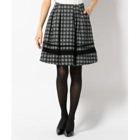 Feroux / フェルゥ 【手洗い可】グレンチェックジャガード スカート