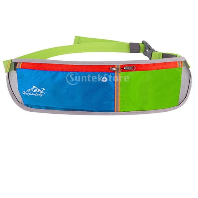 1fa6815e56f227 ノーブランド品 防水 ダブル ポーチ ランニング ベルト ウエスト ポケット ボムス バッグ サイクリング ジョギング 6色