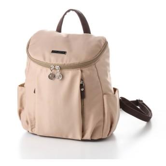 バッグ カバン 鞄 レディース リュック 近所へのお出掛けにぴったりナイロンミニリュック カラー ベージュ