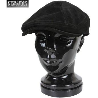 New York Hat ニューヨークハット 9233 Suede 1900 スエードレザーハンチング ブラック [9233] ブランド