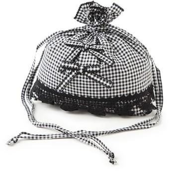 PINK HOUSE / ピンクハウス クローバレース使いギンガム巾着バッグ