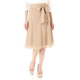 NATURAL BEAUTY / ナチュラルビューティー [ウォッシャブル]ランダムドットスカート