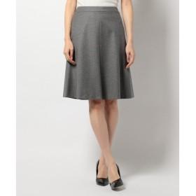 L size ONWARD(大きいサイズ) / エルサイズオンワード 2/72×1/24カシミヤ混フラノ スカート