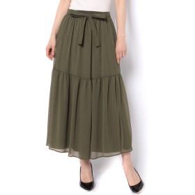 un dix cors / アンディコール シアーセットギャザースカート