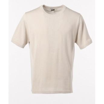 JOSEPH ABBOUD / ジョセフ アブード 【洗える】リネンコットンニット Tシャツ