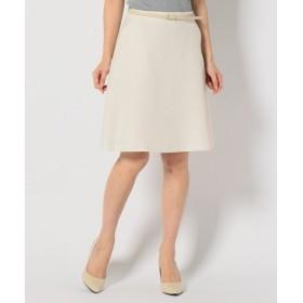 S size ONWARD(小さいサイズ) / エスサイズオンワード 【ベルト付き】リネンライクブッチャー スカート