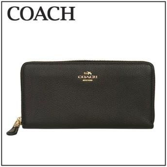コーチ COACH ACCORDION ZIP 53797 ラウンドファスナー 長財布 LIBLK(ブラック)